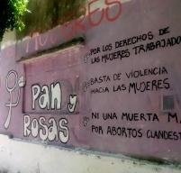 Ubicación: 13 y Av. 44 y Plaza Paso / Autoras: Pan y Rosas / Fotografía Leandro Romero