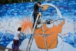 Mural del Papa Francisco en Los Hornos/ Fotografía: Romina Soliani
