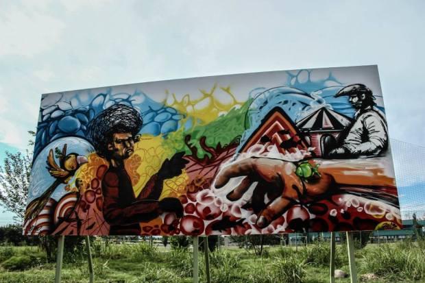 Mural Parque Kempes / Artista Mariano Fernandez / Córdoba