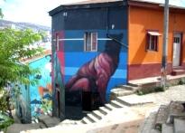 Museo a Cielo Abierto de Valparaíso (Chile) / Murales en los faldeos del cerro Bellavista.