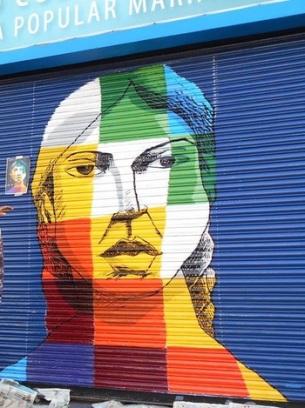 Mural de Bartolina Sisa en la Biblioteca Popular Mariano Moreno / Artistas: Vera Castro y Javier Cruz